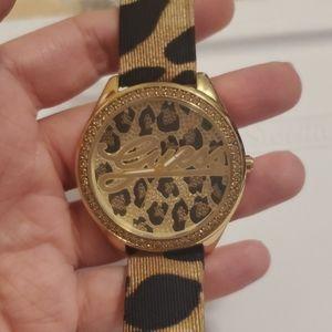 Guess Ladies Animal Leopard Print Watch (NWOT)